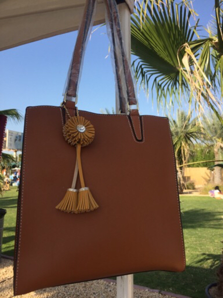 Used Large Tote Brown Bag with Tassel in Dubai, UAE