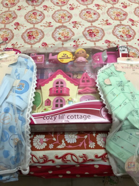 Used doll house and 2 baby boy gift set in Dubai, UAE
