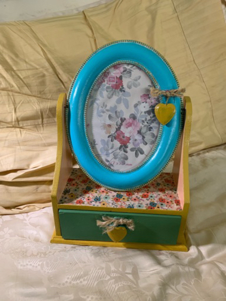 Used Handpainted photo frame with drawer in Dubai, UAE