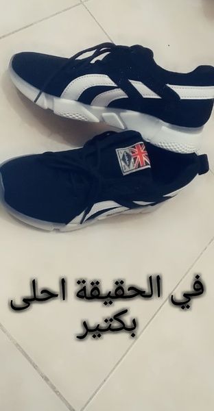 Used Black shoes with white stripes! Size-36 in Dubai, UAE