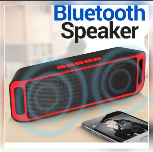 Used Hand size portable black n red speaker in Dubai, UAE