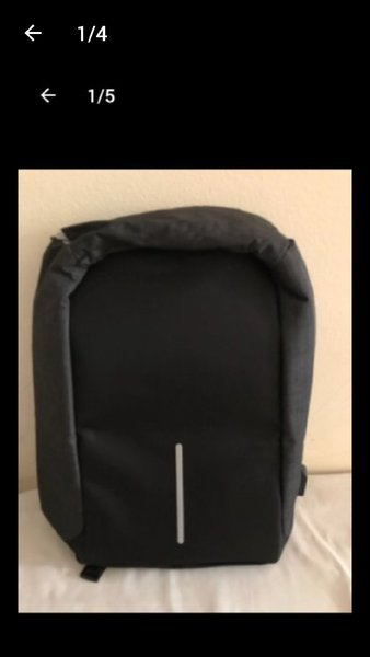 Used Anti Theft black back pack in Dubai, UAE