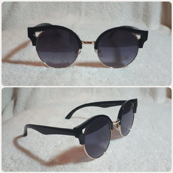 Used New black round Sungglass for lady in Dubai, UAE