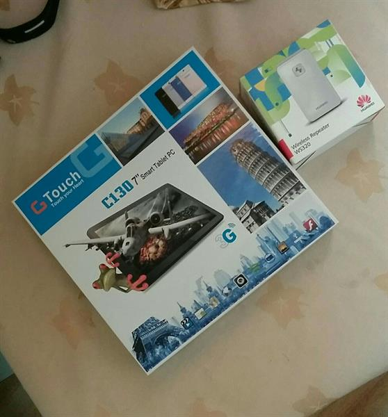 Used Gtouch Tablet + Huwaei Repeater +free Tab Cover  in Dubai, UAE