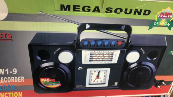 Used 12 band am/fm/tv radio with alarm clock  in Dubai, UAE