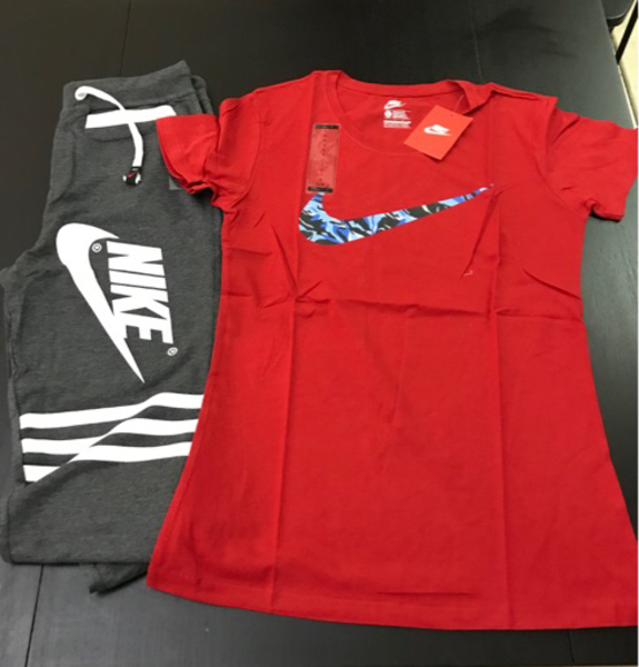 Used Bundle Offer!! Nike Shirt & Jogger Pants in Dubai, UAE