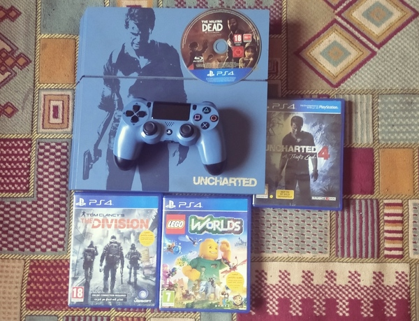 Used PS4 UNCHARTED 4 EDITION + 5 FREE GAMES! in Dubai, UAE