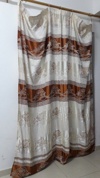 Used Curtains and rods with holders in Dubai, UAE