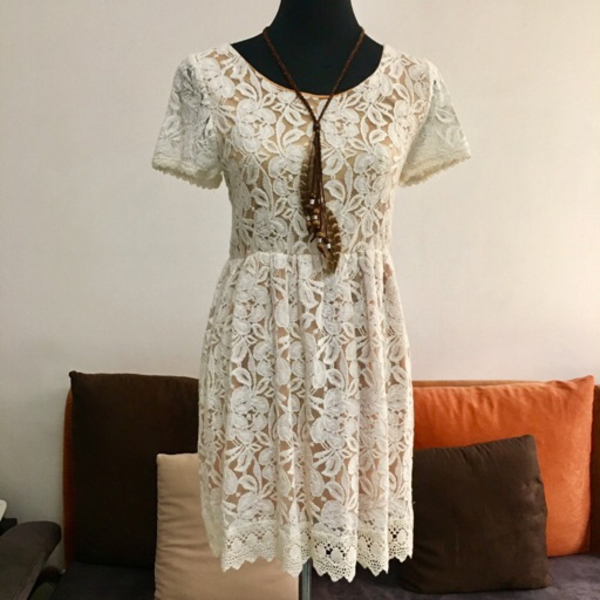Used Crochet Beige Dress in Dubai, UAE