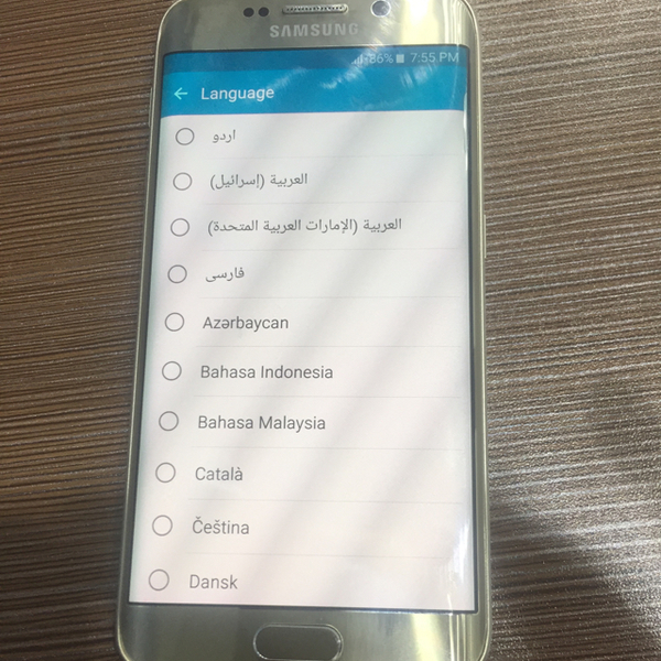 Used s6 edge  t mobile .  only back glass broken .  in Dubai, UAE