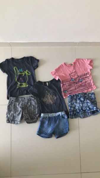 Used Summer outfit sets (Branded) 18mths-2yrs in Dubai, UAE