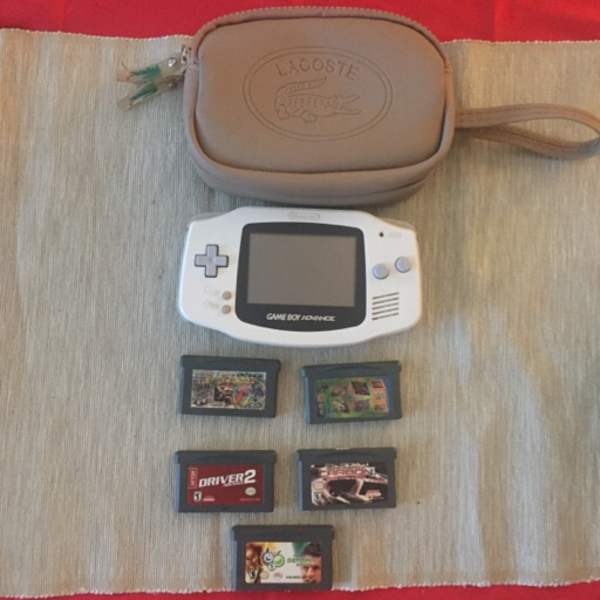 Used Gameboy Advance, w/ games and pouch in Dubai, UAE