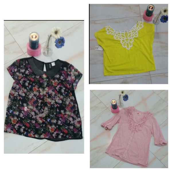 Used 3 lovely blouses short sleeves in Dubai, UAE