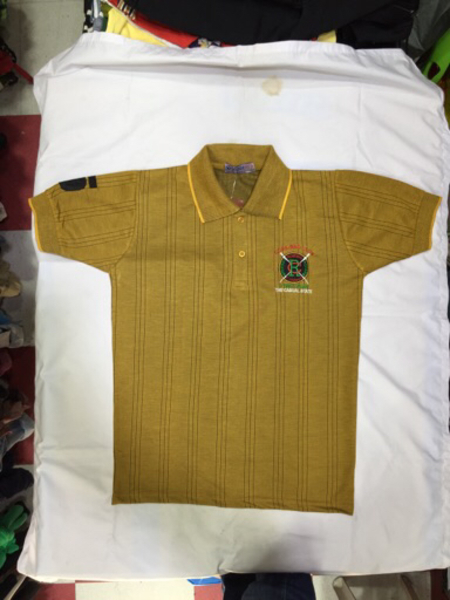 Used Polo Tshirt - Golden shade in Dubai, UAE