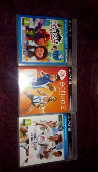 Used Ps3 + 2 Consoles and 6 games.(as shown) in Dubai, UAE