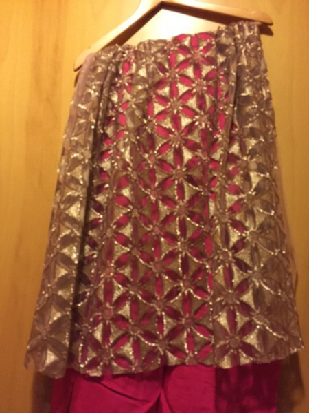 Used Sequins dress material with holes  in Dubai, UAE