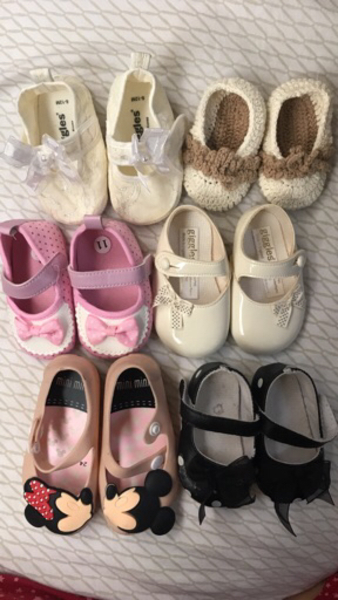 Used New born shoes all new in Dubai, UAE