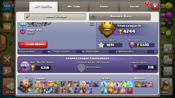 Used Selling Clash of Clans and Mobile Legend in Dubai, UAE