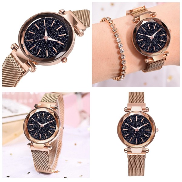 Used New golden magnetic strap watch in Dubai, UAE