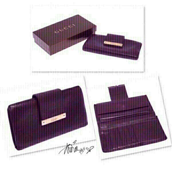 Used Authentic Gucci purple wallet ❤️ in Dubai, UAE