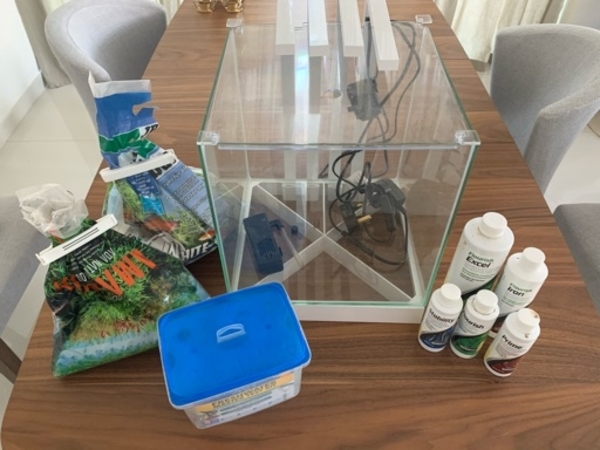 Used Fish tank with all starter chemicals in Dubai, UAE