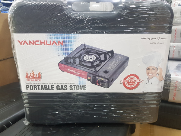 Used Portable Gas Stove with 4 refill in Dubai, UAE