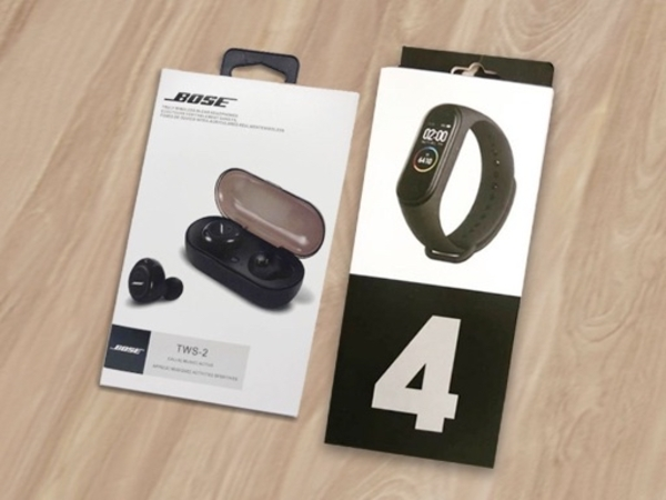 Used Bose earbuds + M4 fitness band in Dubai, UAE