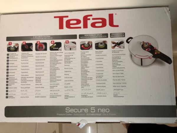 Brand new Tefal 4L cooker