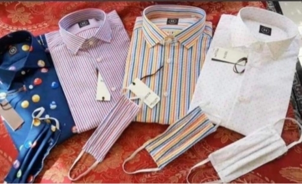 Used Fashion fir Men shirt &mask 4pic in Dubai, UAE