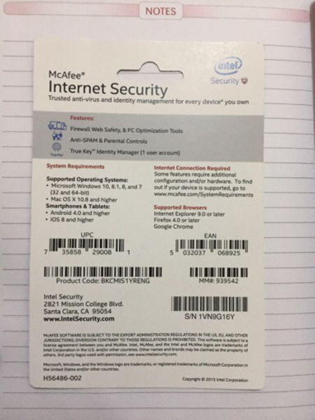 Used Mcafee internet security in Dubai, UAE