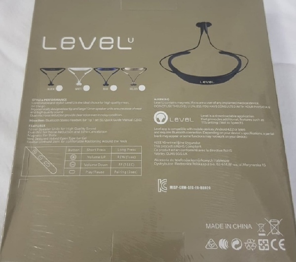 Used Level u best Bluetooth headphones in Dubai, UAE