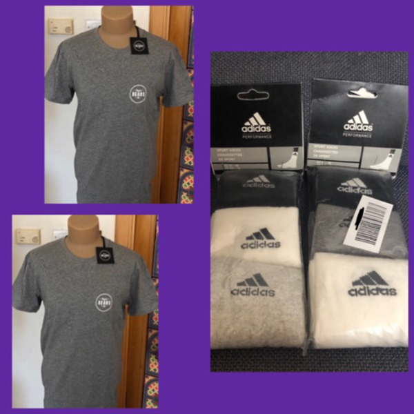 Used 2  Beard Shirt & 6 Pairs Adidas Socks in Dubai, UAE