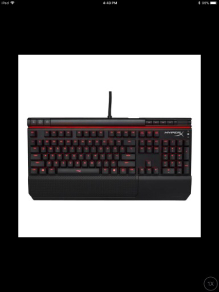 Used HyperX alloy elite mechanical keyboard in Dubai, UAE