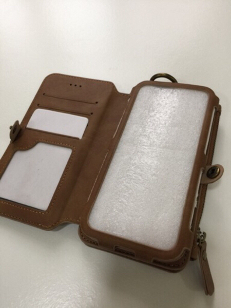Used Brown Phone Case/Wallet NEW in Dubai, UAE