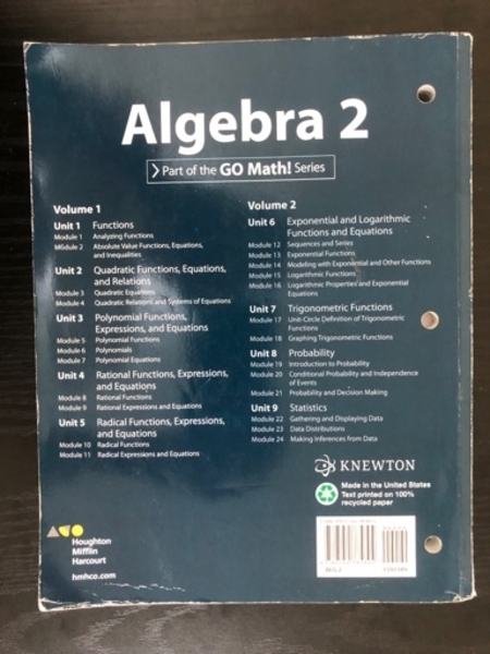 Used Algebra 2(vol1 + vol2) in Dubai, UAE