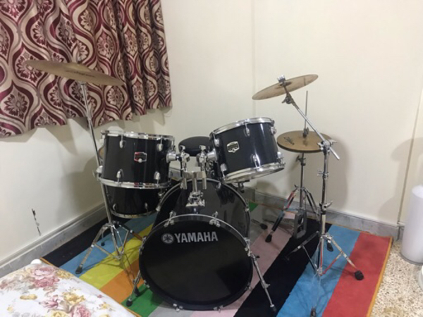 Used Yamaha Manual Drum kit -7pcs  in Dubai, UAE