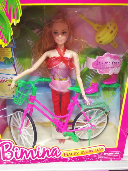 Used New Doll with Bicycle. in Dubai, UAE