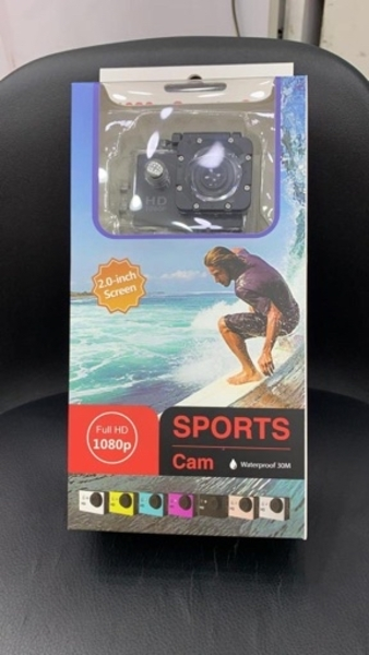 Used Waterproof action camera with accessorie in Dubai, UAE