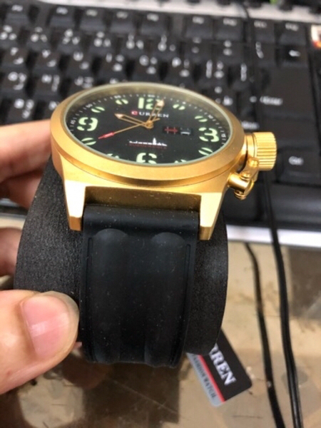 Used men army military gold color watch in Dubai, UAE