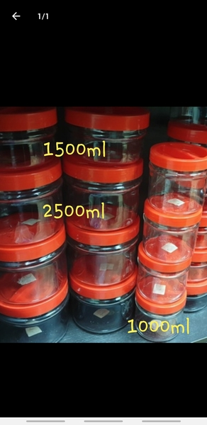 Used Collection of highquality glassjars 4pcs in Dubai, UAE