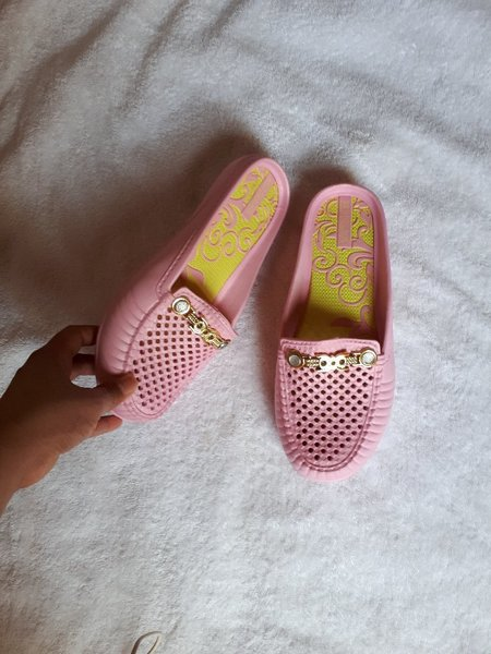 Used Cute pink open shoes flat in Dubai, UAE