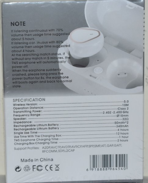 Used Wireless earbuds with charging case 207 in Dubai, UAE