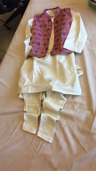Used Sherwani cotton silk jacket 6-8 yrs  in Dubai, UAE