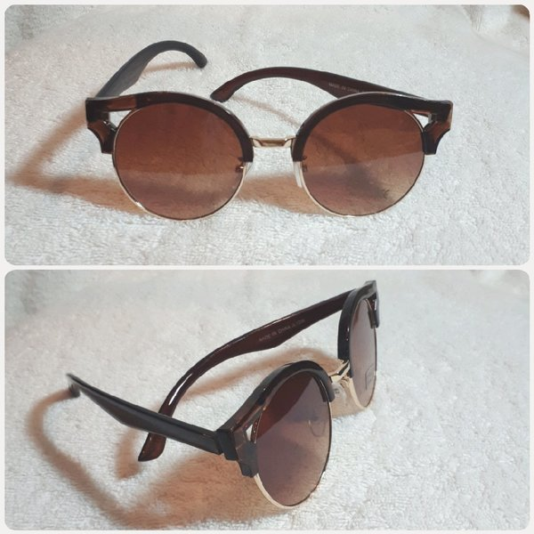 Used Pios brown sungglass fashion# for her in Dubai, UAE