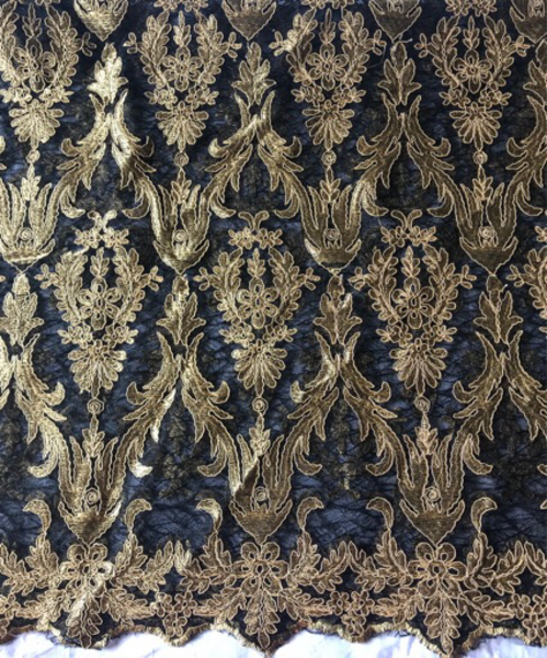 Used Embroidered Rich Fabric – Gold & Black in Dubai, UAE