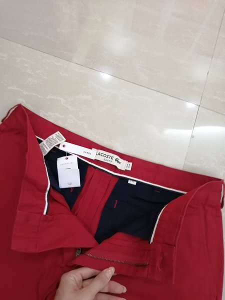 Used LACOSTE 🐊PANTS 👖RED SIZE 44 in Dubai, UAE