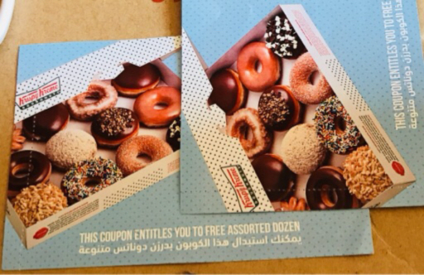 Used Krispy Kreme Voucher - 2 Dozens in Dubai, UAE