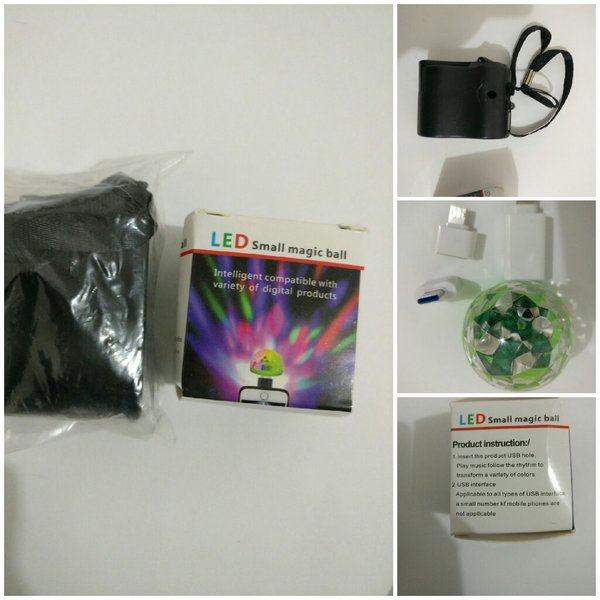 Used USB phone charger & small Led ball in Dubai, UAE