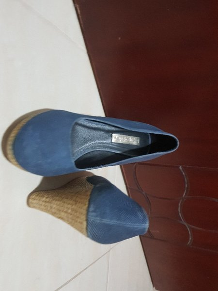 Used Blue cork high heels in Dubai, UAE