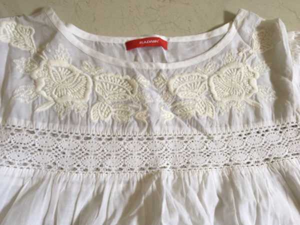 Used RADNIK white embroidered blouse  in Dubai, UAE